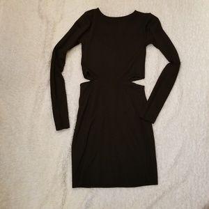 Asos long sleeve black dress